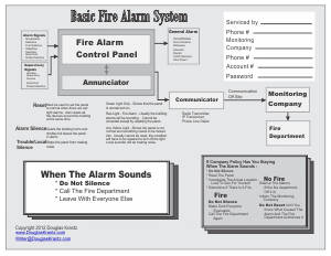 diagram of the basic fire alarm system