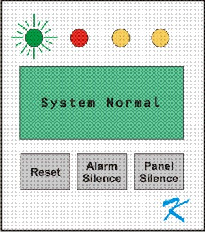 Typical normal panel showing the lights, display, and easy to use buttons
