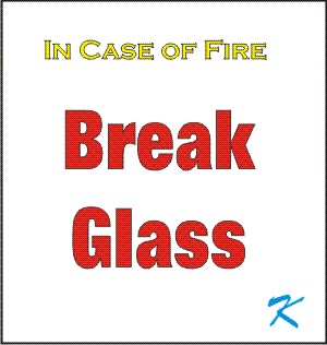 Early methods of sounding a fire alarm involved breaking a glass pane