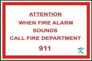 The sign above the fire alarm pull station says to call 911. That is because the fire alarm system will n0t do that automatically.