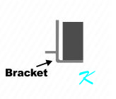 A bracket is part of the core and it also holds the post