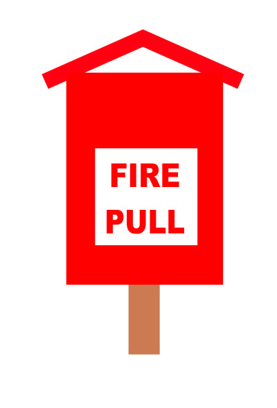 A fire pull box is part of a fire alarm system