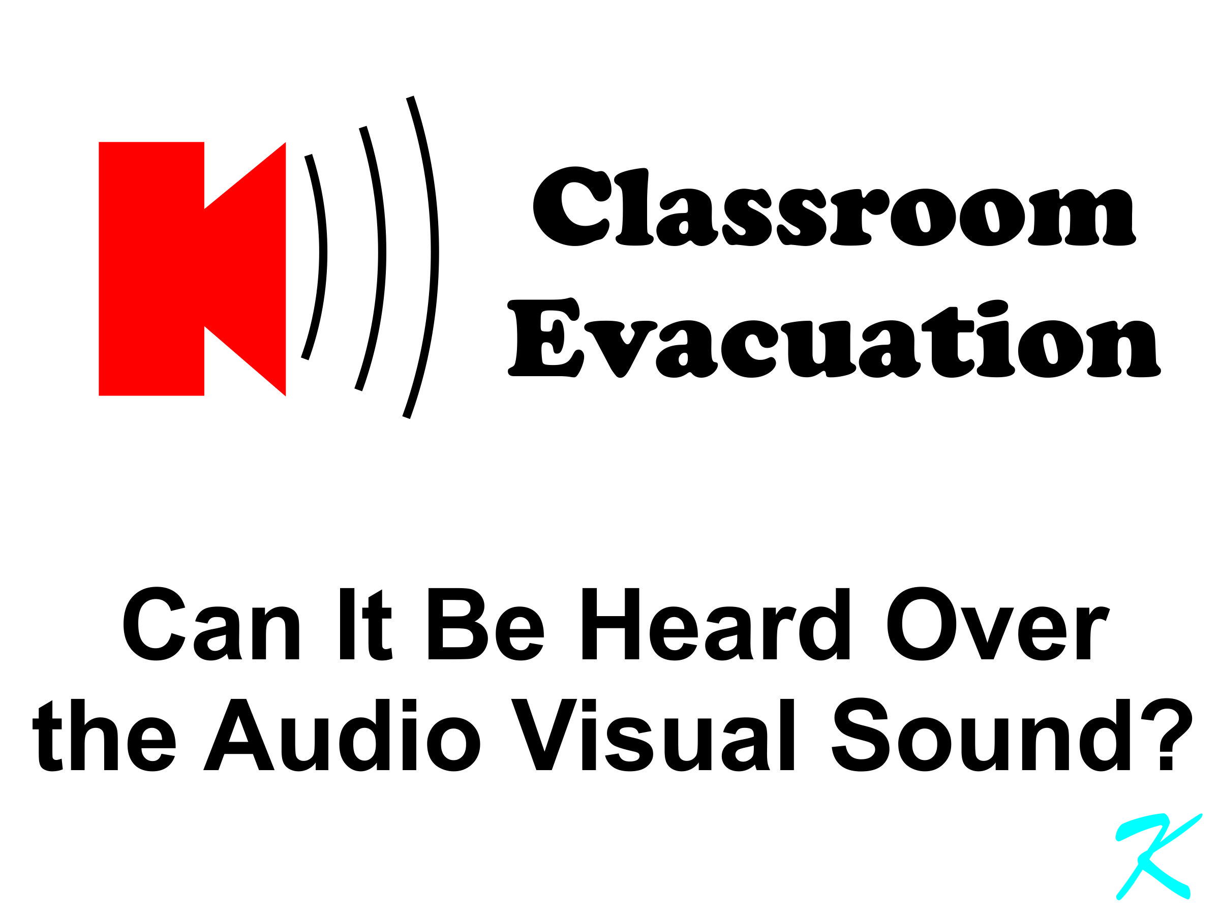 In a school, if the fire alarms are not as loud as the Audio / Visual system, the AV system should be shut down during a fire alarm. Whether or not the law says you have to, if the students can't hear the alarm, there's a problem.