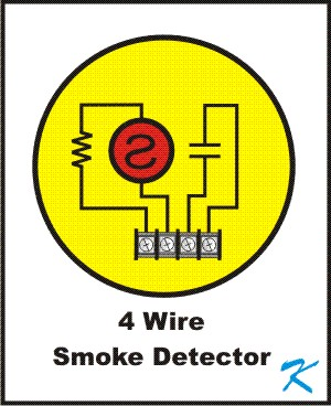 A 4 Wire Smoke Detector is a conventional smoke detector with a current limiting resistor and a contact closure