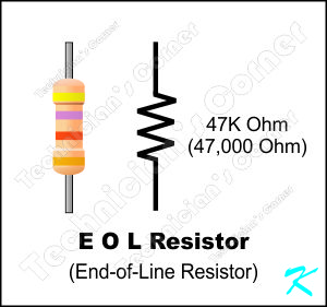 The End-of-Line Resistor limits current so the circuit is not shorted, but allows enough current to pass for a constant continuity check