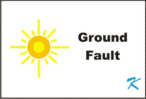 The ground fault light is a good indicator that there is trouble, but not a good troubleshooting tool.