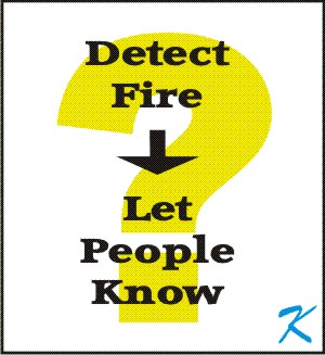 Does the fire alarm system actually detect fire and let people know about the fire?