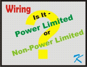 The question is whether it should be power limited wiring or non-power limited wiring.