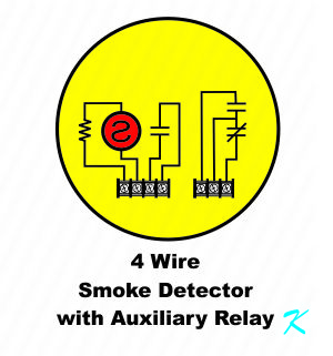 What is a Four Wire Smoke Detector? Auxiliary Relay Wiring Contacts on auxiliary fuel tank, auxiliary battery, auxiliary locks, auxiliary radiator, auxiliary horn, auxiliary contactor, auxiliary fuse box, auxiliary fuel pump,