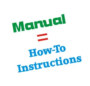 A Manual is a Set of How-To Instructions